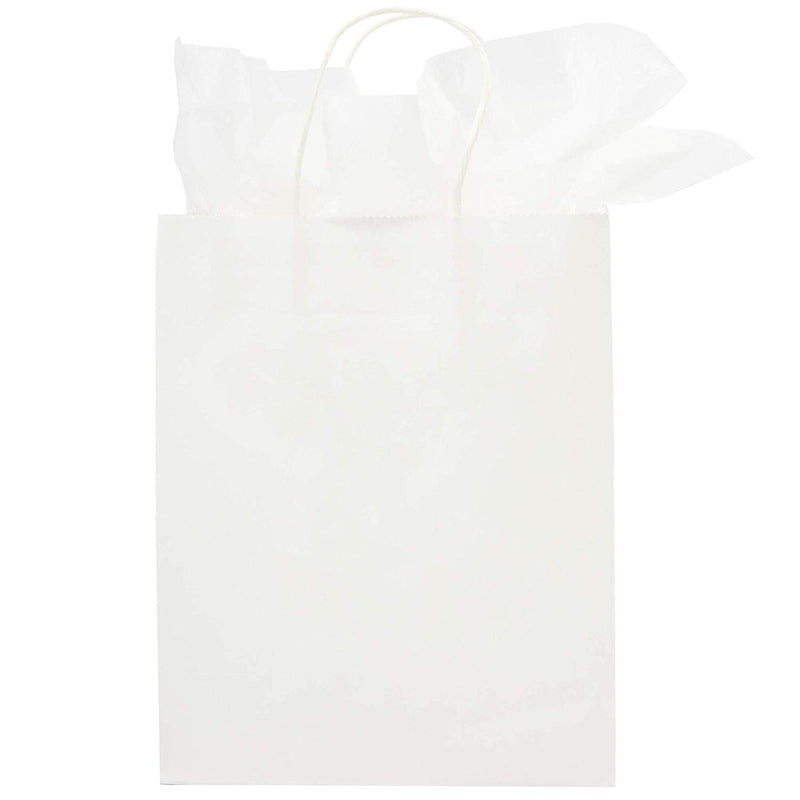 Thank You Kraft Gift Bags (15 Pack, Rose Gold Foil Lettering, 20 Sheets Tissue Paper)