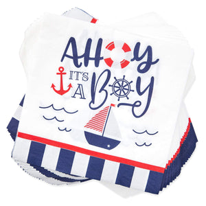 Ahoy It's a Boy Nautical Baby Shower Party Pack (Serves 24)