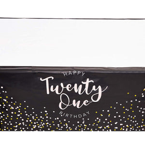 Sparkle and Bash 21st Birthday Table Cover Decorations, 3 Pack, 54 x 108 in