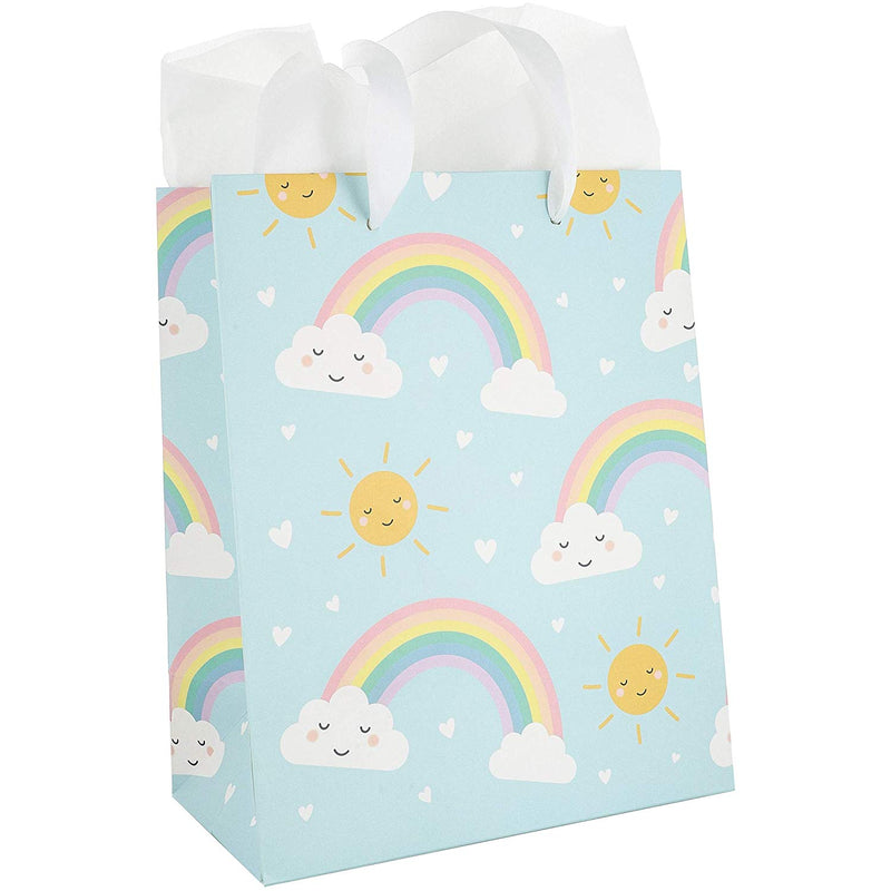 Baby Shower Gift Bags (12 Count), 4 Designs