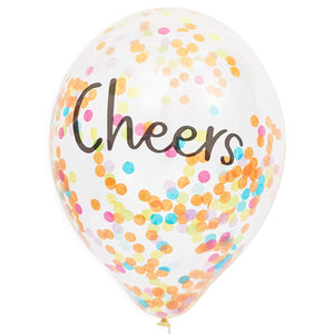 "Confetti Fun and Cheerful Design Balloons 12"" for Birthday Party Decorations"