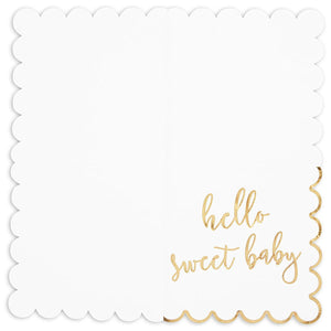 "50Pcs HELLO SWEET BABY Paper Napkins 6.5"" for Baby Shower Tableware Decorations"