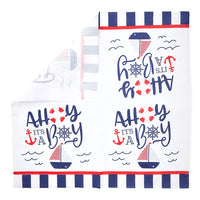 "100Pcs Nautical OH IT'S A BOY Paper Napkins 6.5"" for Baby Shower Decorations"