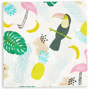 "100Pcs Tropical Theme Party Paper Napkins 6.5"" for Birthday Tableware Decoration"
