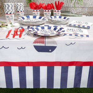 3 Pack Ahoy It's a Boy Baby Shower Party Tablecloth Table Cover, 54 x 108""