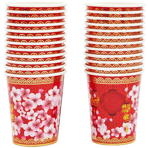 Sparkle and Bash Chinese New Year Party Pack Plates, Napkins, Cups, Cutlery (Serves 24)