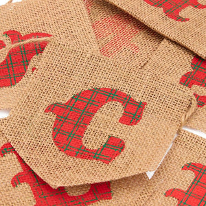 Sparkle and Bash Merry Christmas Burlap Banner Garland, 10 Feet Long