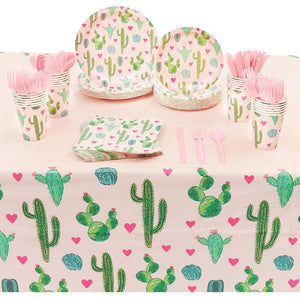 Serves 24 Cactus Fiesta Mexican Theme Party Supplies Decorations for Kids Adults