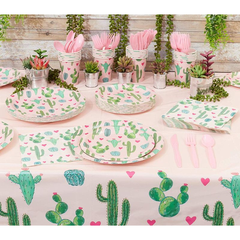 Fiesta Party Decorations, Cactus Napkins (Pink, 100-Pack)