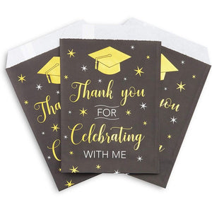 Graduation Paper Treat Bags (5 x 7.5 in, 100 Pack)