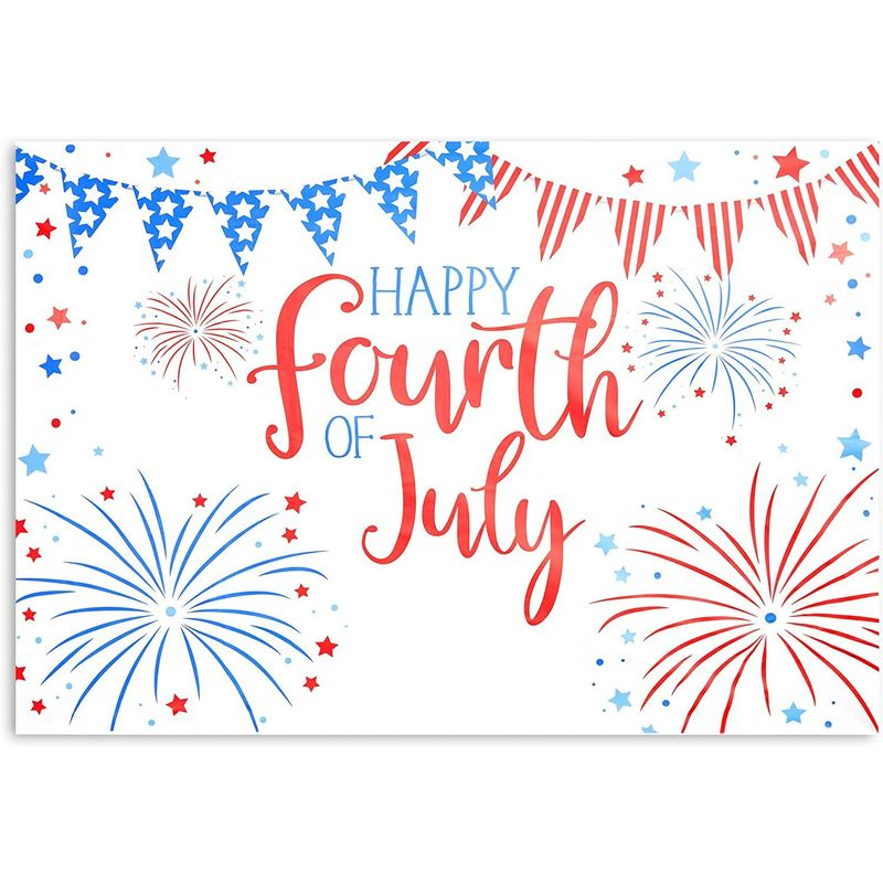 Happy Fourth of July Photo Booth Party Backdrop (86 x 60 in)