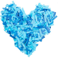 5pcs Blue Confetti Wand Flick Flutter Stick for Boy Baby Shower, Gender Reveal