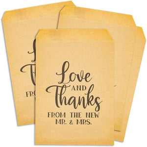 100 Pack Kraft Paper Party Favor Decorative Treat Bags for Wedding Party