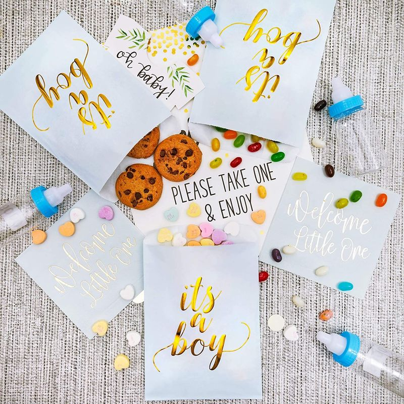 It's a Boy Baby Shower Goodie Bags (5 x 7.5 in,100 Pack)