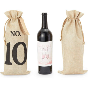 Blind Wine Tasting Kit with Numbers 1-10 and Tags (6.25 x 14 In, 10 Pack)