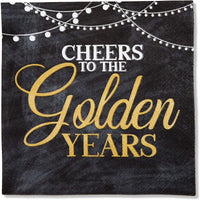 Retirement Party Paper Napkins, Cheers to the Golden Years (