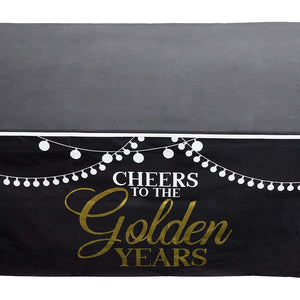Retirement Party Plastic Table Covers, Cheers to Golden Years (54 x 108 In, 3 Pack)