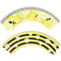 Bee Cupcake Toppers and Wrappers (52 Pieces)