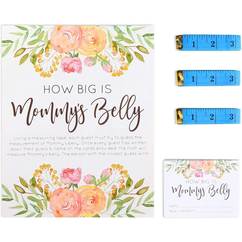 Boy Baby Shower Party Game, How Big is Mommy's Belly (28 Pieces)