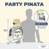 Tequila Bottle Pinata (16.5 x 13 in.)