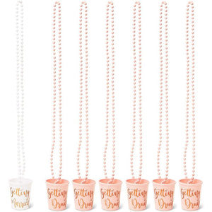 Beaded Bridal Shot Glass Necklaces for Bachelorette Party Su