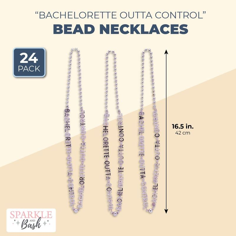 Bead Necklaces, Bridal Party Supplies, Bachelorette Outta Control (24 Pack)