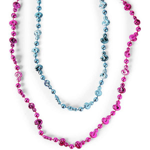 Gender Reveal Party Favors, Pink and Blue Bead Necklaces (12 Each, 24 Pack)