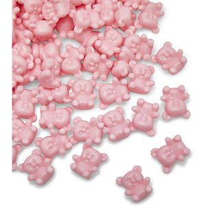 Pink Gender Reveal Party Favors, Mini Teddy Bears (0.35 x 0.65 x 0.3 in, 180 Pack)
