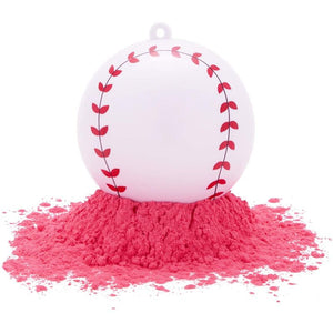 Gender Reveal Baseball for Baby Girl (Pink, 3.5 X 3.5 X 7 Inches)
