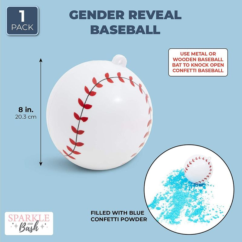 Gender Reveal Baseballs for Boy Baby Shower, Blue