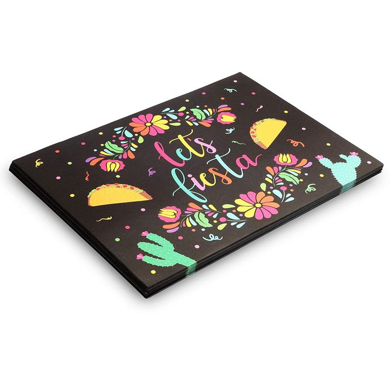 Let's Fiesta Table Decorations Paper Placemats (10 x 14 Inches, 100 Pack)