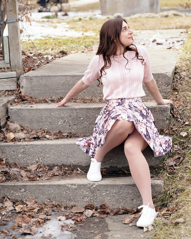 sewing a stretchy skirt tutorial FREE circle skirt pattern