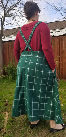 Ivy Pinafore Skirt Sewing Pattern in Curvy Plus Size Sewing Pattern
