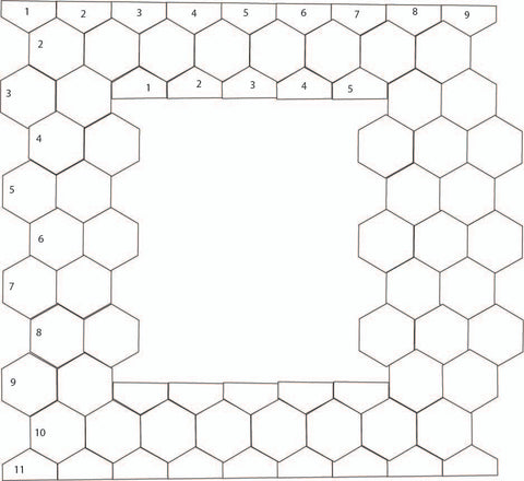 How to add a panel between hexies
