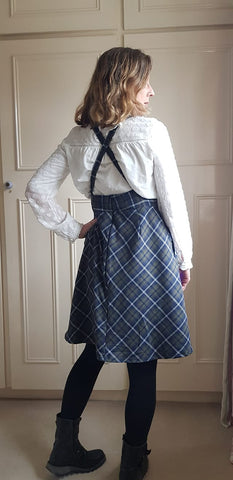 Plaid Pinafore in a vintage style Ivy Pinafore Dress Sewing Pattern Pinafore patterns