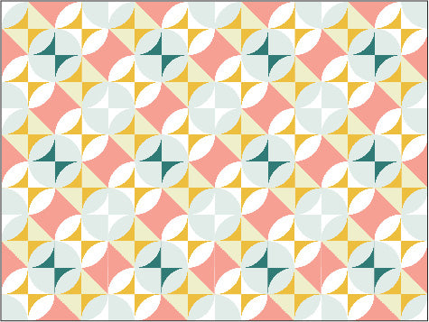 Melted Melamine Quilt Block as a whole Quilt