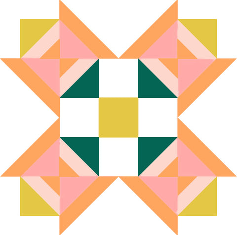 Petal Prism Quilt Block by Wendy Chow of the Weekend Quilter
