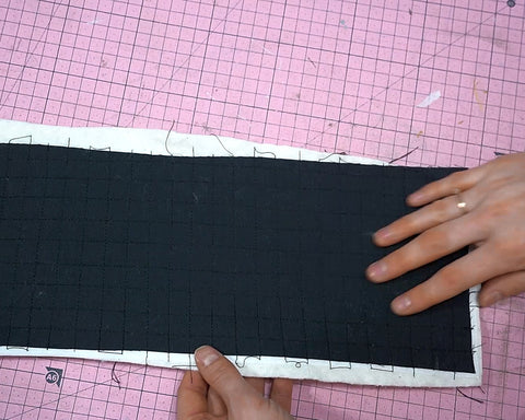 Quilting the exterior panels of your bag Beatrix bag pattern