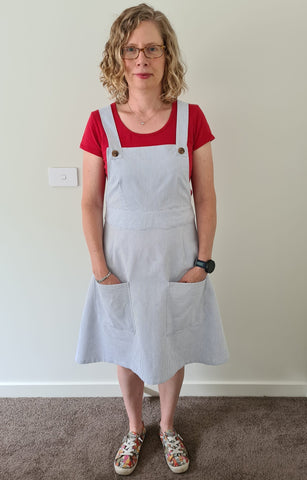 Ivy Pinafore Dress Pinafore Sewing patterns easy sewing patterns for beginners