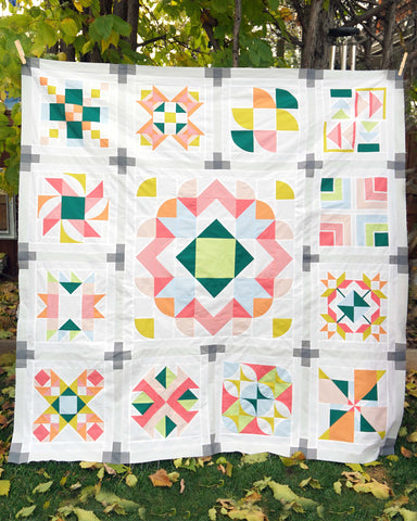 Summer Sampler 2021 quilt top all ready to be quilted