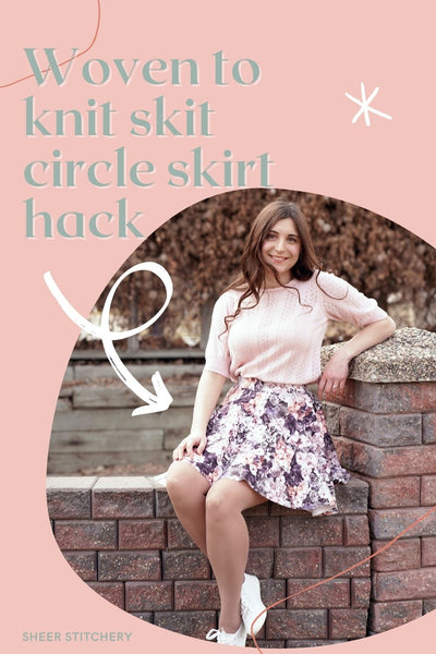 woven to knit circle skirt sewing hack and tutorial
