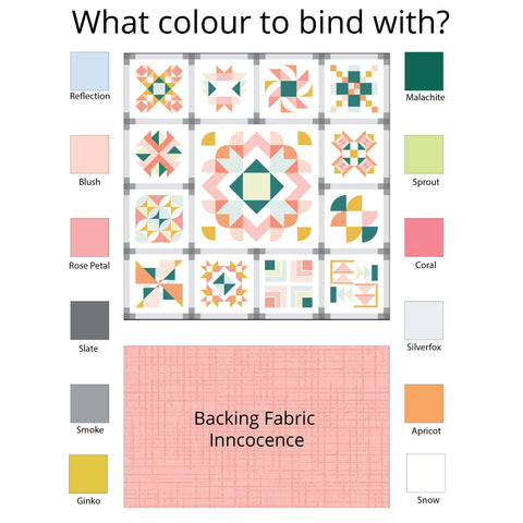 What colour to bind my quilt with?