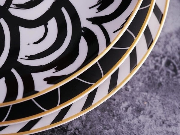 Showing cosmos dinner plate gold inlay rim