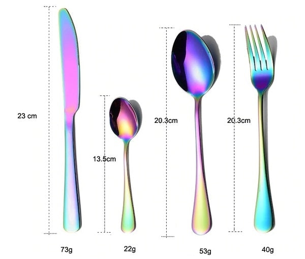 dimensions of alice fantasy cutlery set