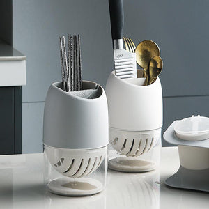 Showcasing 2 different cutlery drainer variants