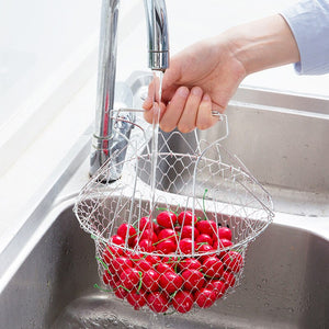Frying basket and a drainer in one