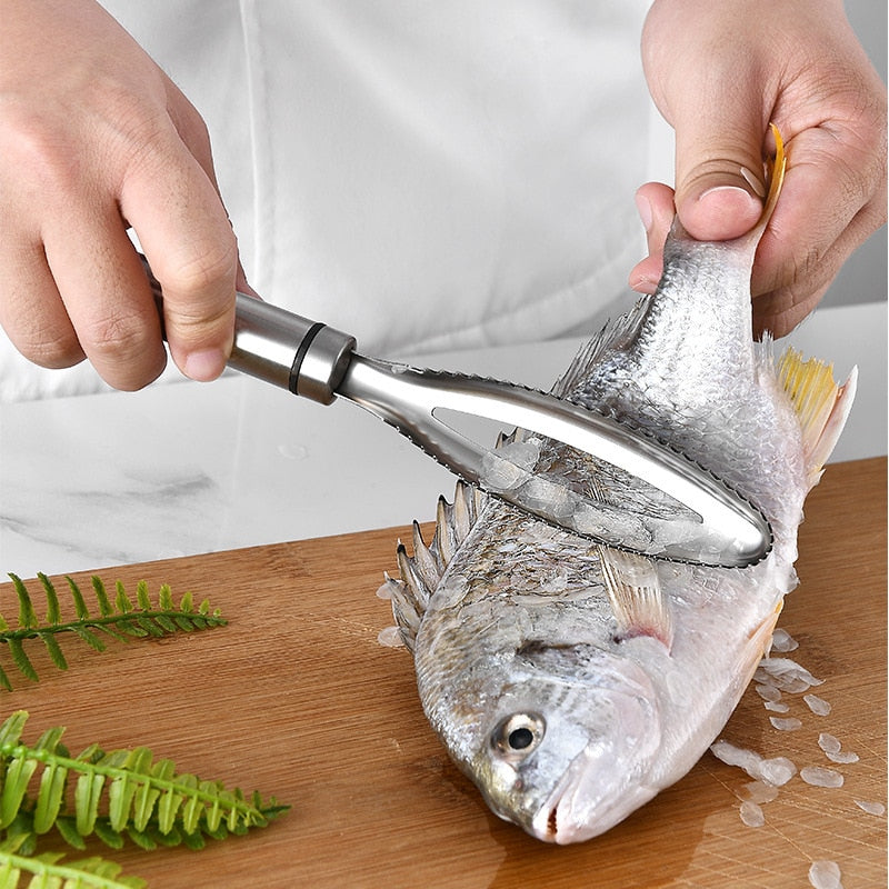 How to remove fish scales without much effort