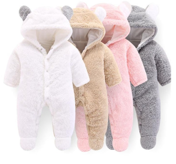 Soft Winter Fleece Baby Romper