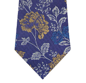 Lilac with Floral Design Silk Tie Close