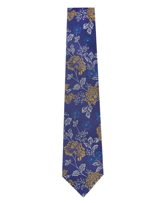 Lilac with Floral Design Silk Tie